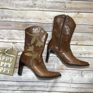 Boutique Matisse Brown Leather size 7 Vintage Boot